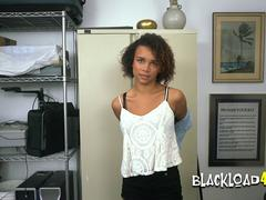 African american beauty gets stuffed all over with directors BBC