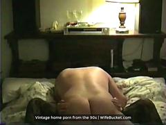 Real husband made a home video tape of a great sex with the wifey back in the 90s
