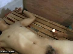 Bound Muscle Guys BDSM and Cum