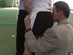 Tennis Coaches Double Team Their Star Player