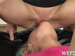 guy makes ing in girls mouth feature