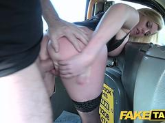 fake taxi great tits sexy milf in black lingerie segment