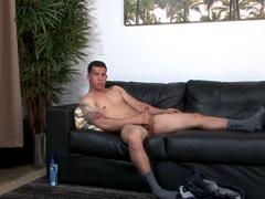 Anally fucked soldier plowed after rimjob