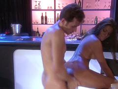 Madelyn Marie didnt even close the club yet and shes on his cock