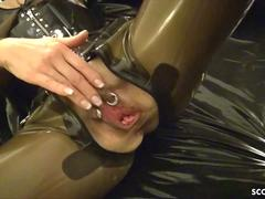 GERMAN LATEX MISTRESS IN ROUGH ANAL FUCK AND CREAMPIE IN ASS