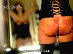 Cruel whipping for big girl