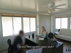 LOAN4K. Girl has no choice and gives herself to naughty manager