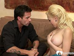 Blonde with big tits love to shag