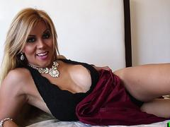 Sexy big tittied tgirl rammed with cock