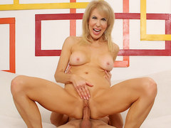 Mature Erica Lauren sideways sex session