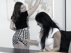 Danni Rivers and her busty teacher