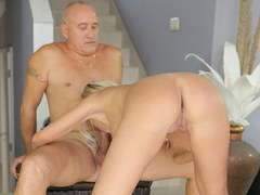 OLD4K. Gallant daddy worships tight pussy of blonde angelface