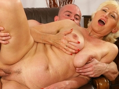Mature blonde Janka gets fisted and fucked