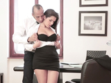 Stunning secretary bangs boss in his office here