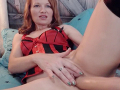 Smoking Hot Babe Fucks Herself With A Massive Dildo