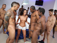Black Cock Slut Amara Romani gets ass fucked and double penetrated