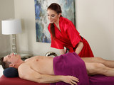 Anna De Ville gives stress relief massage