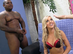 Blonde Callie Cobra Gets Fucked by a Huge Black Cock - Cuckold Sessions