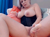 Two Blonde Lesbian Sharing One Dildo For Pleasure